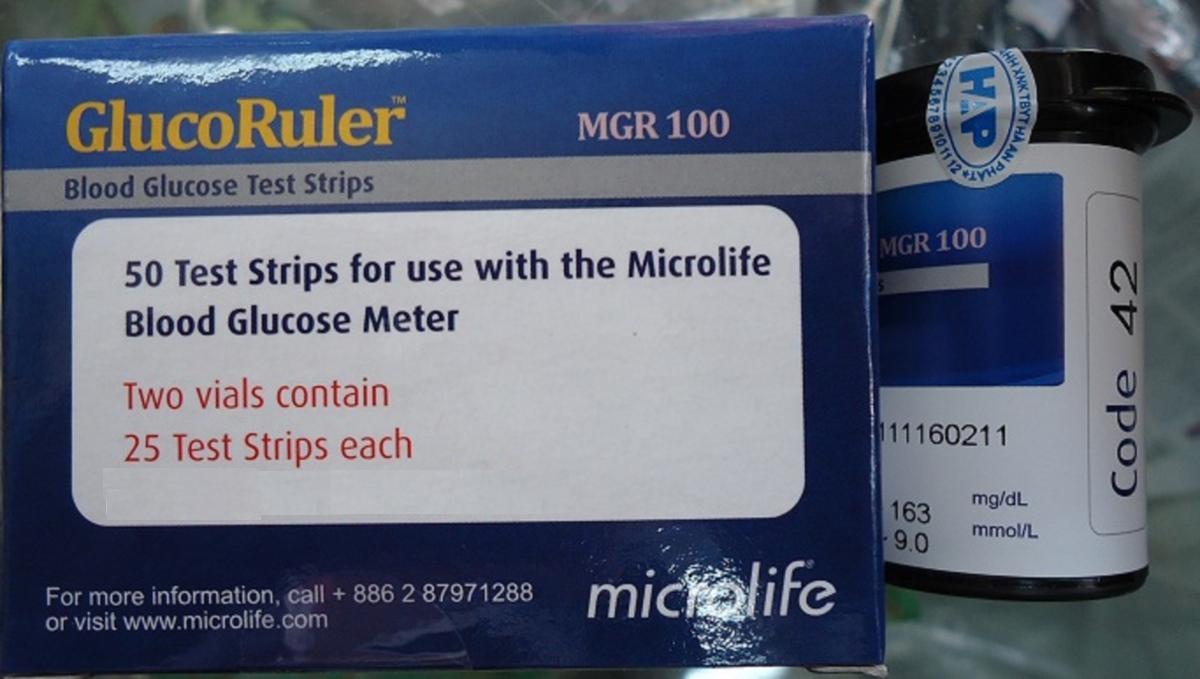 Que thử đường huyết MGR 100
